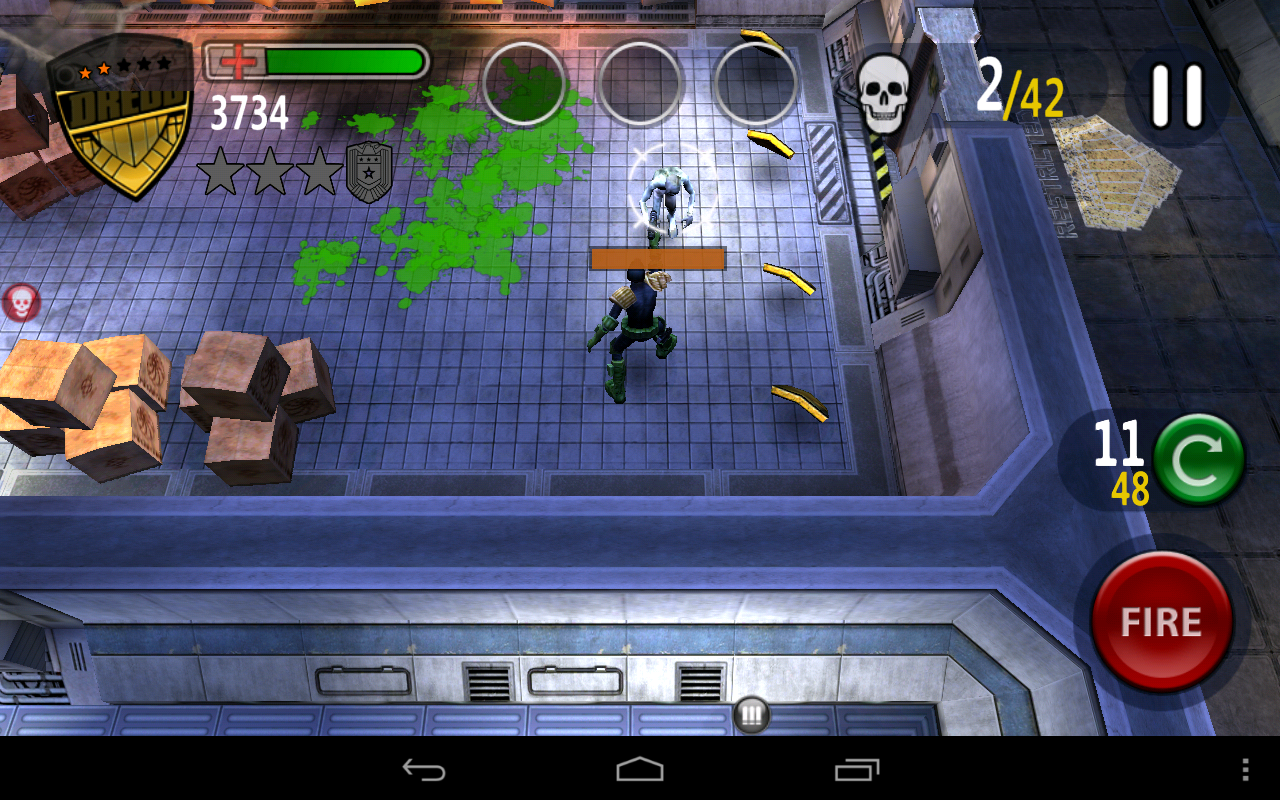 Android игры: Judge Dredd vs Zombies